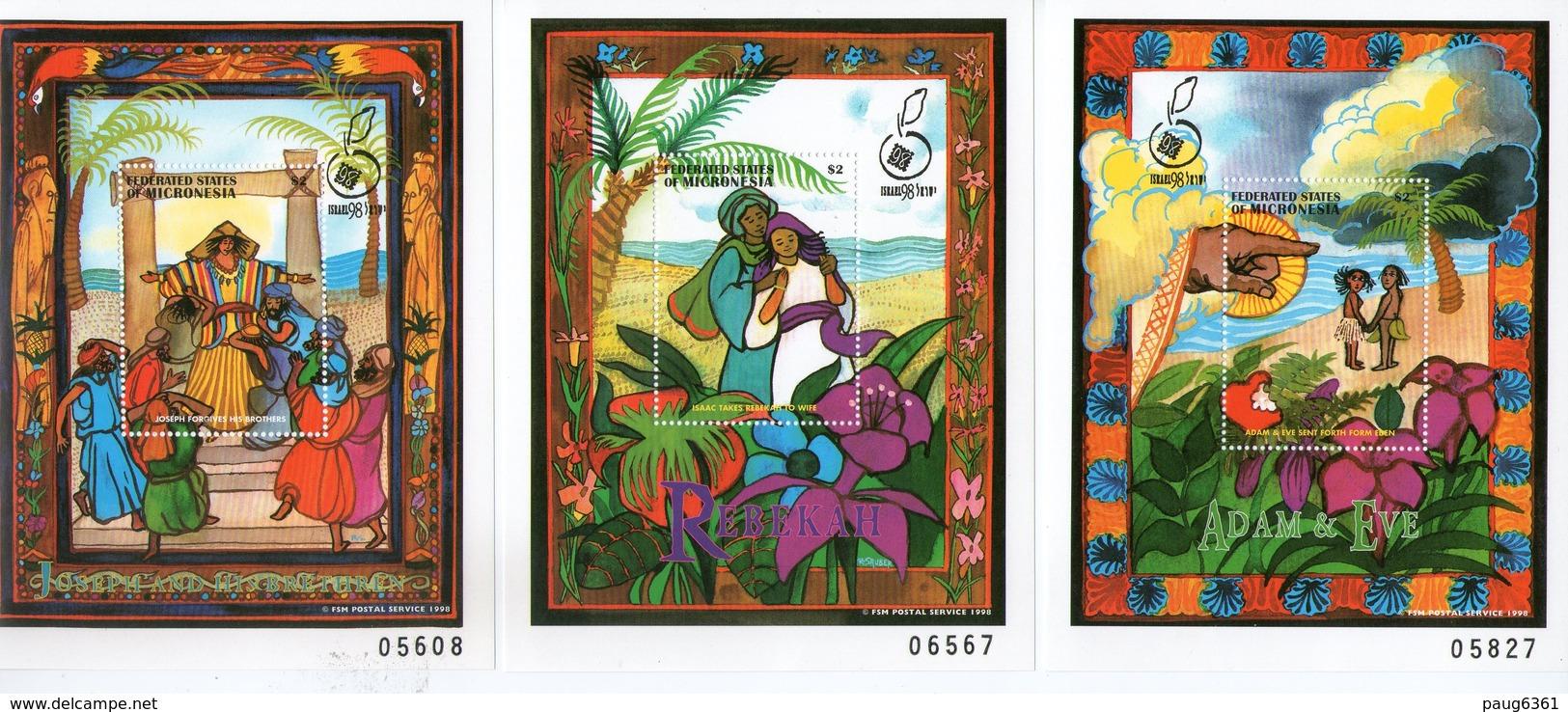 MICRONESIE  1998 ANCIEN TESTAMENT YVERT N°B42/44 NEUF MNH** - Micronésie