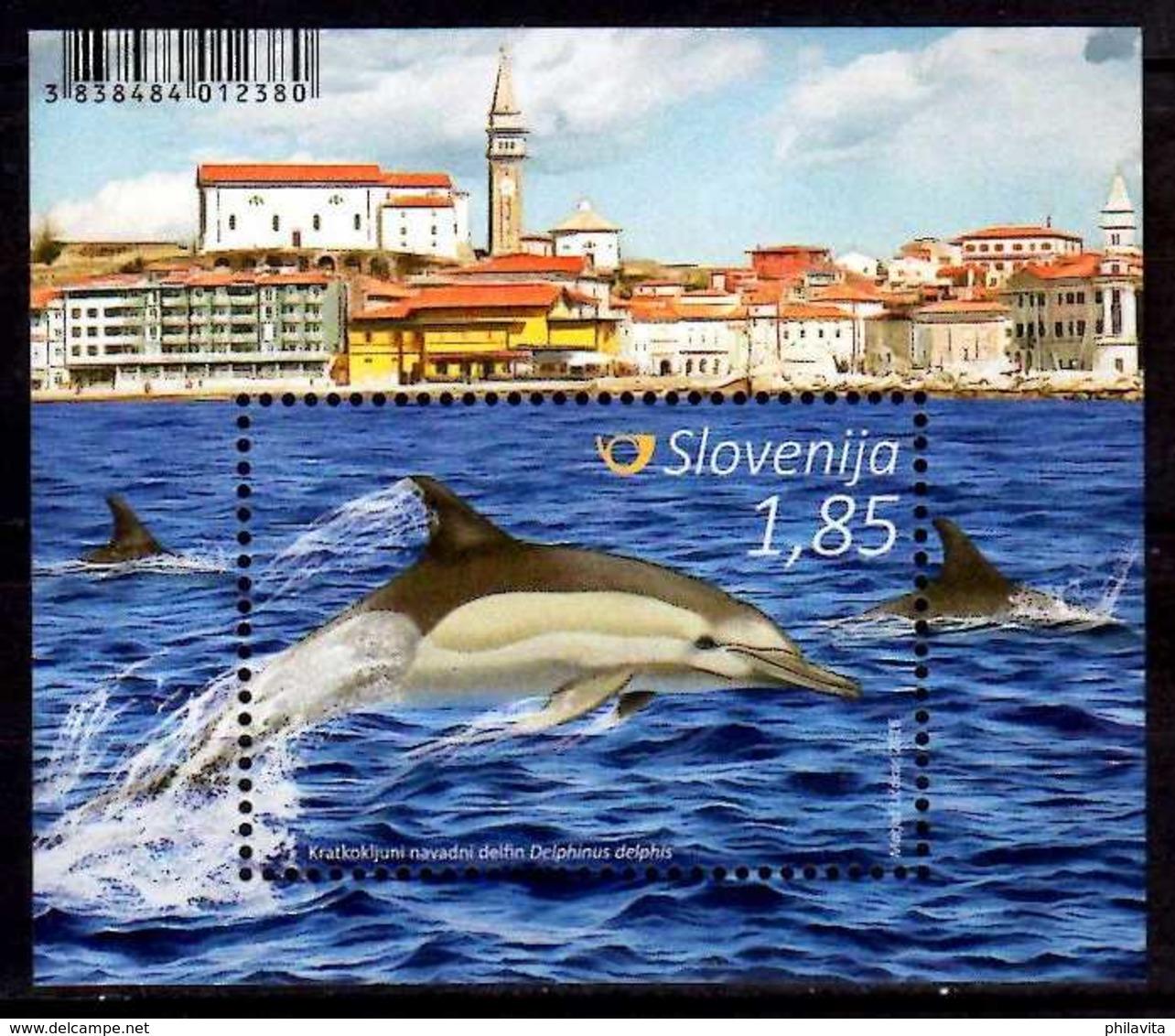 2016 Slovenia - Delfins Of Slovenian Seas - MS - MI B 91 MNH** - Slovénie