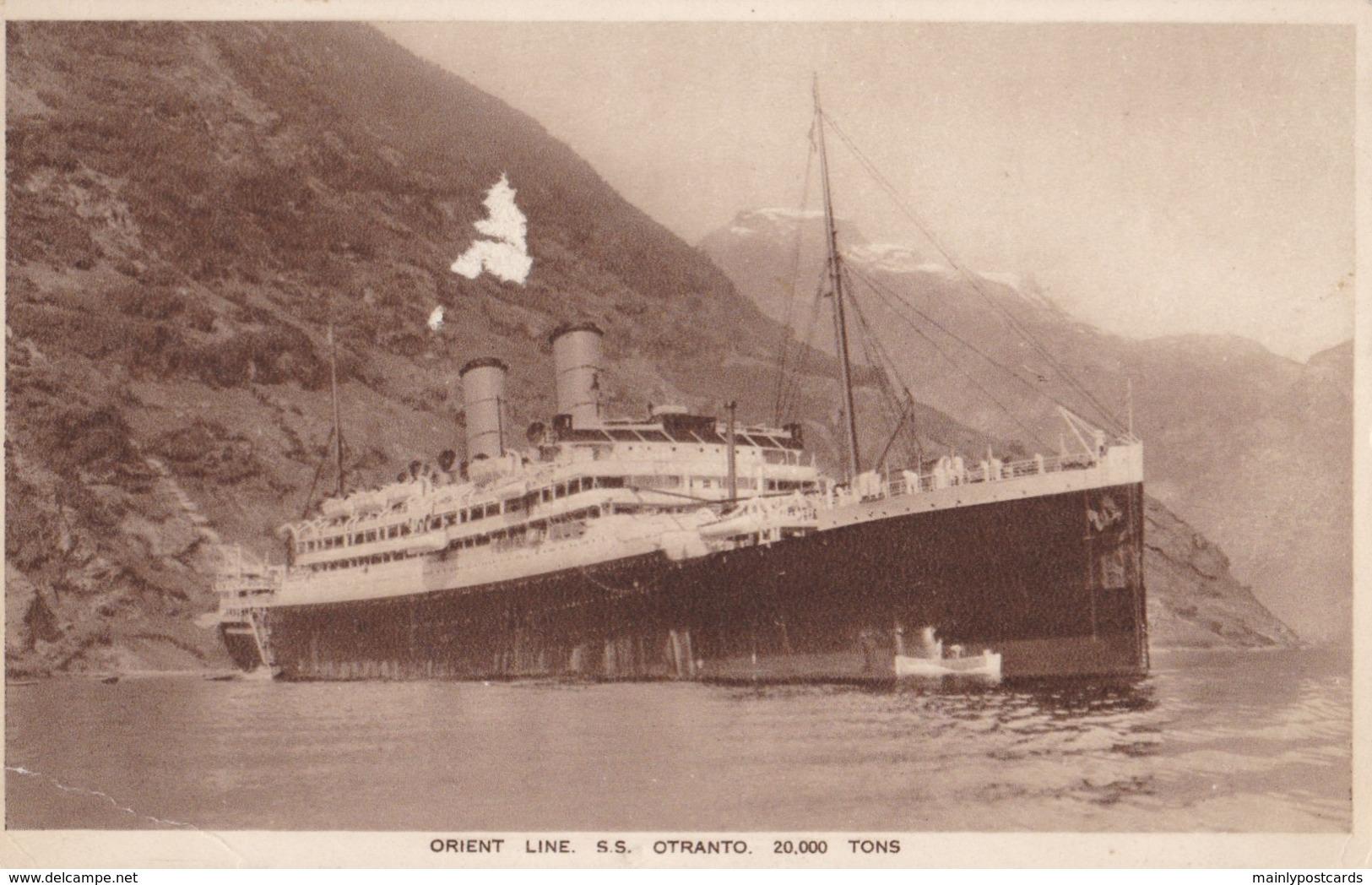 AP44 Shipping - Orient Line S.S. Otranto - Steamers