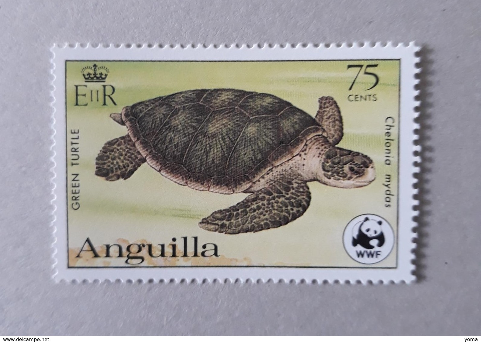 N°494       Tortue Marine Chelonia Mydas -  Dentelé 13 1/2 X 14  -  Neuf - Anguilla (1968-...)
