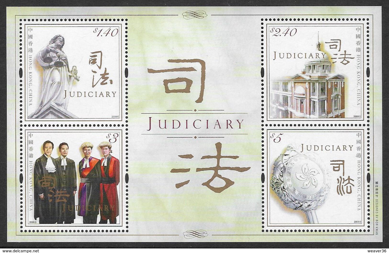 Hong Kong 2008 Judiciary Miniature Sheet Unmounted Mint [3/3308/ND] - 1997-... Chinese Admnistrative Region