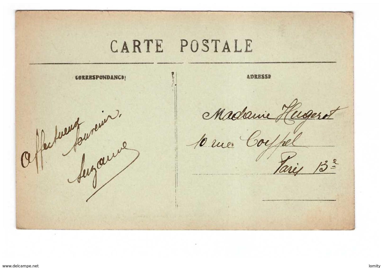 10 Arrentieres La Grande Rue Cpa Carte Animée Edit Rale Cachet 1924 - Autres Communes