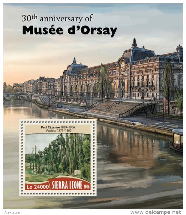 SIERRA LEONE 2016 - Musee D'Orsay, P. Cezanne - YT BF1003; CV=20 € - Impressionisme