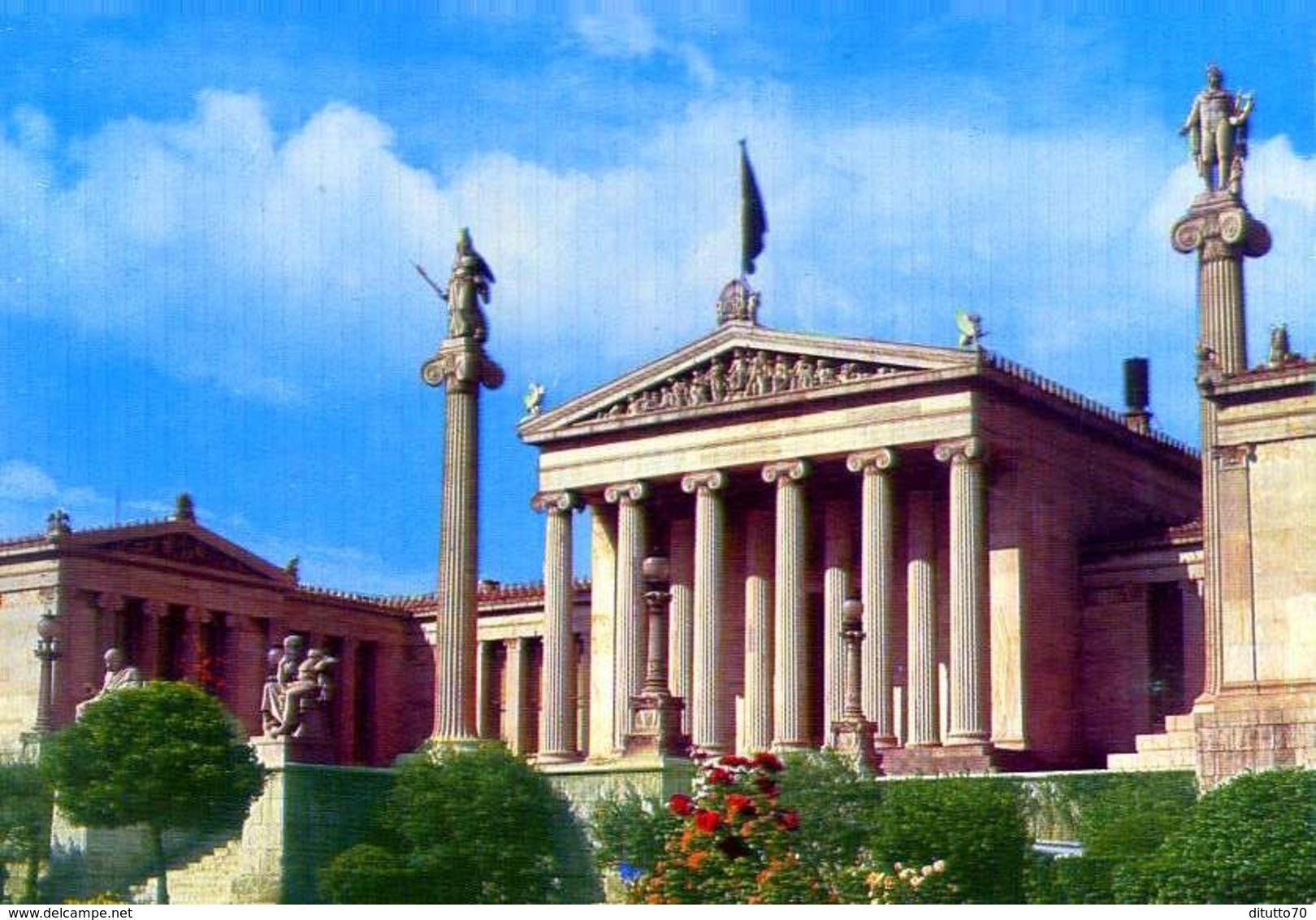 Atene - L'accademia - Formato Grande Non Viaggiata – E 9 - Grecia