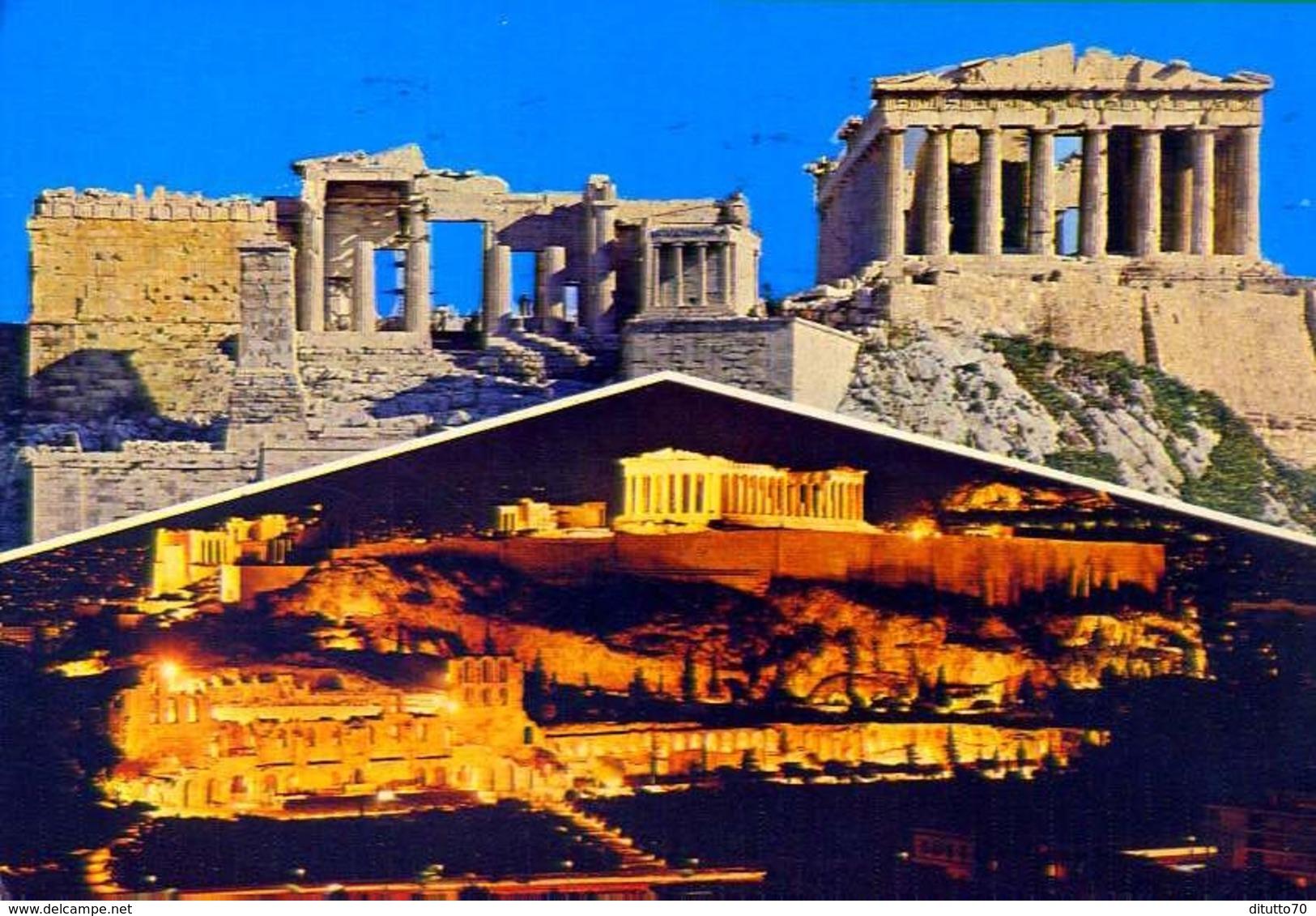 Atene - Saluti D'acropoli - Formato Grande Viaggiata – E 9 - Grecia