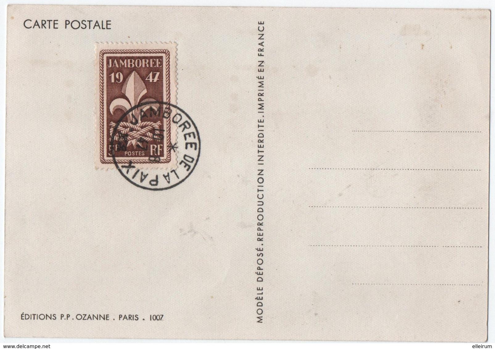 SCOUTISME. JAMBOREE De La PAIX. 1947. TIMBRE Au VERSO. - Movimiento Scout