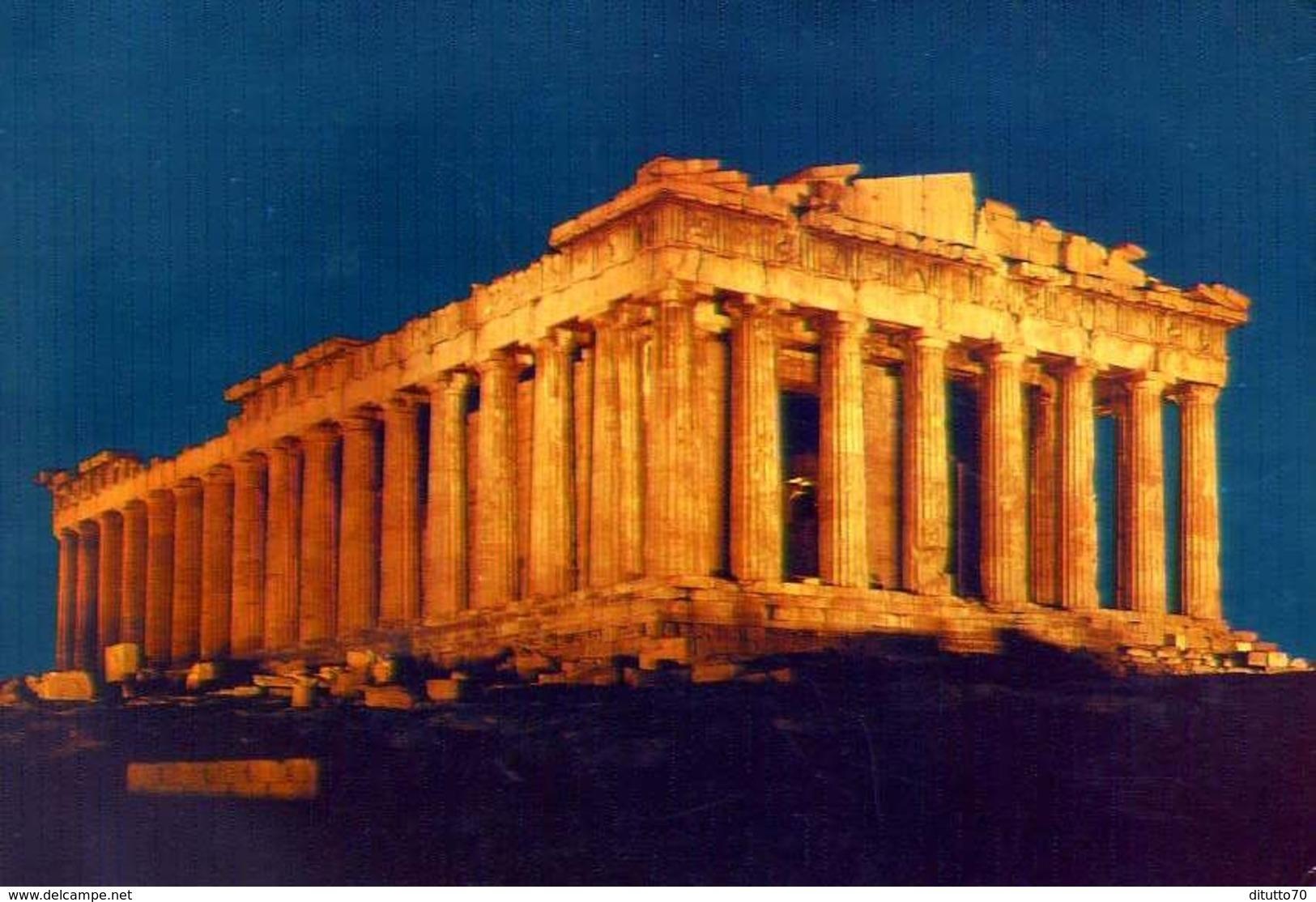 Athens - The Parthenon Illuminated - 383 - Formato Grande Viaggiata – E 9 - Grecia