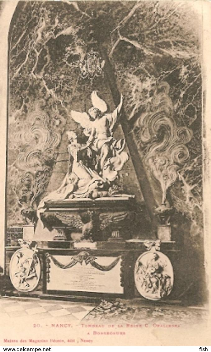 France & Circulated,  Nancy Tombeau De La Reine Opalinska, Editeur Magasins Réunis, Coimbra Portugal 1903 (20) - Monuments