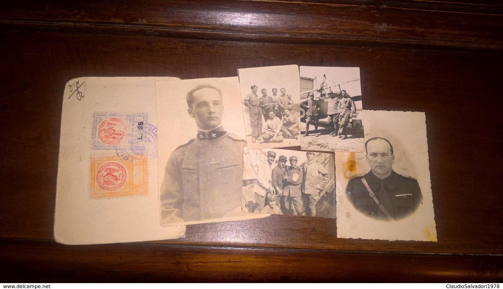 5 Foto Militari Camice Nere Aerei Unico Militare MVSN WWII Leggi Dettagli - Guerra, Militari