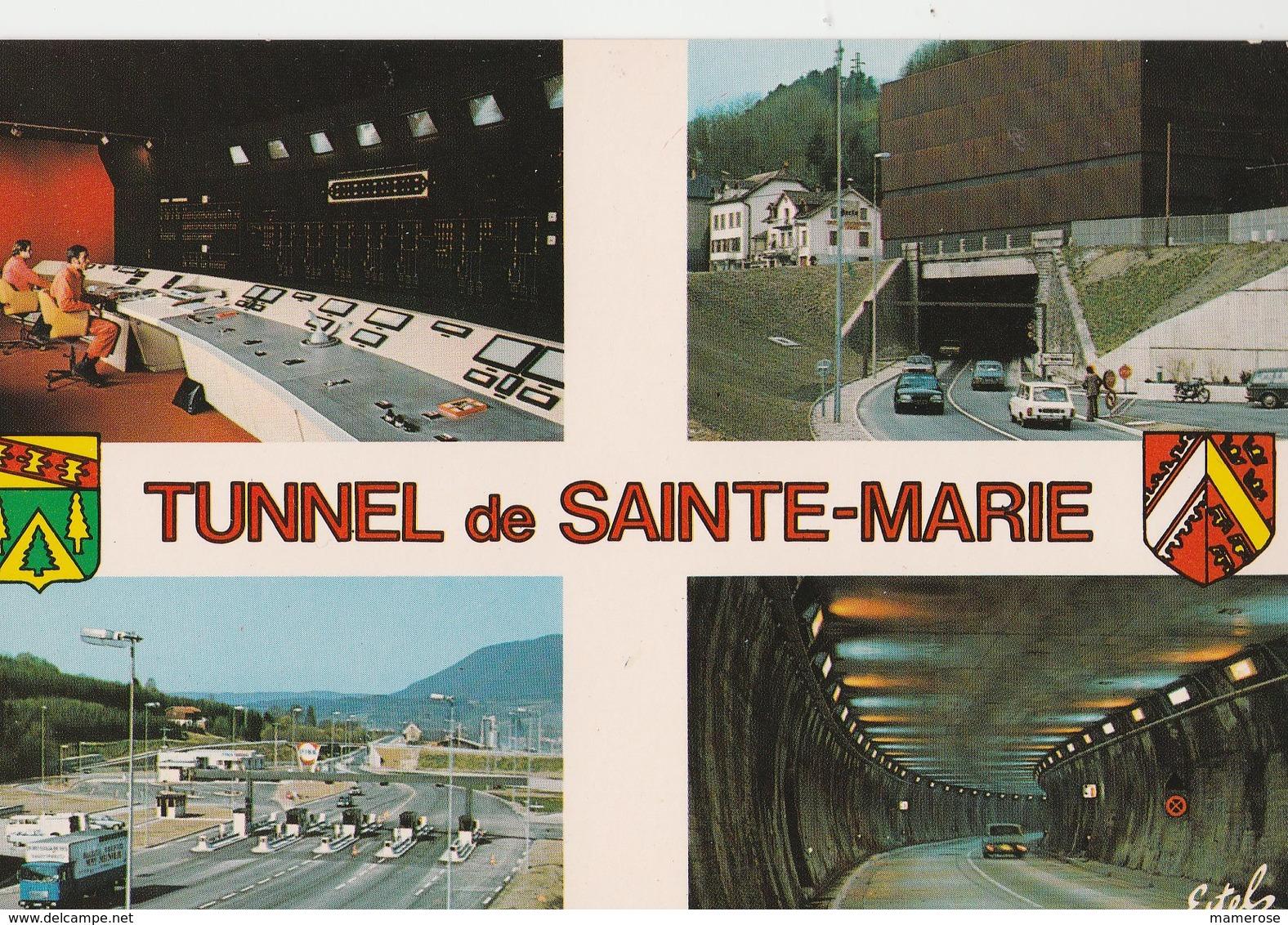 TUNNEL DE SAINTE-MARIE-aux-Mines (68). Souvenir De ... 4 Vues Dont La Salle De Contrôle (Transports: Automobile: Autres) - Sainte-Marie-aux-Mines