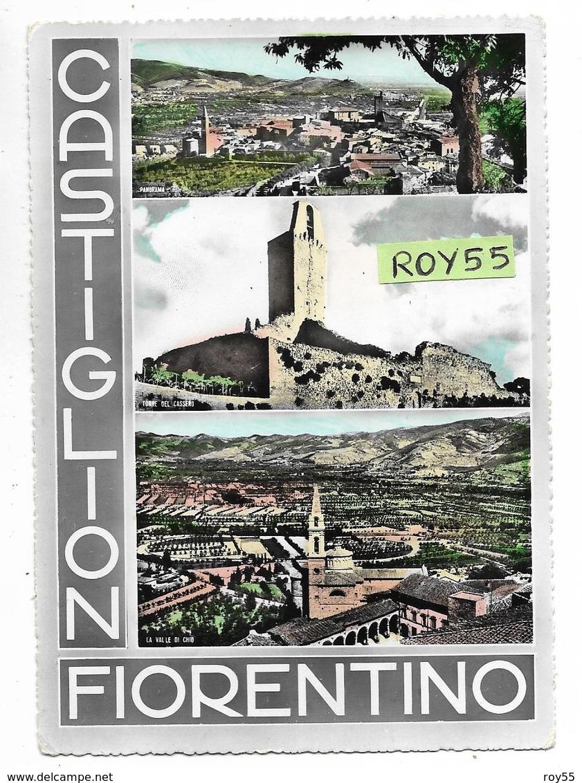 Toscana-arezzo-castiglion Fiorentino  Vedute Vedutine Castiglion Fiorentino Anni 50 - Altre Città