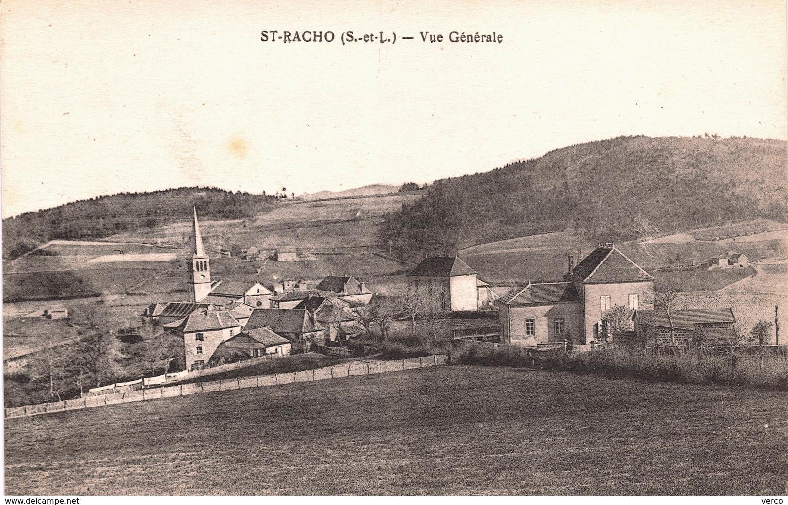 Carte Postale Ancienne De SAINT  RACHO - Altri Comuni