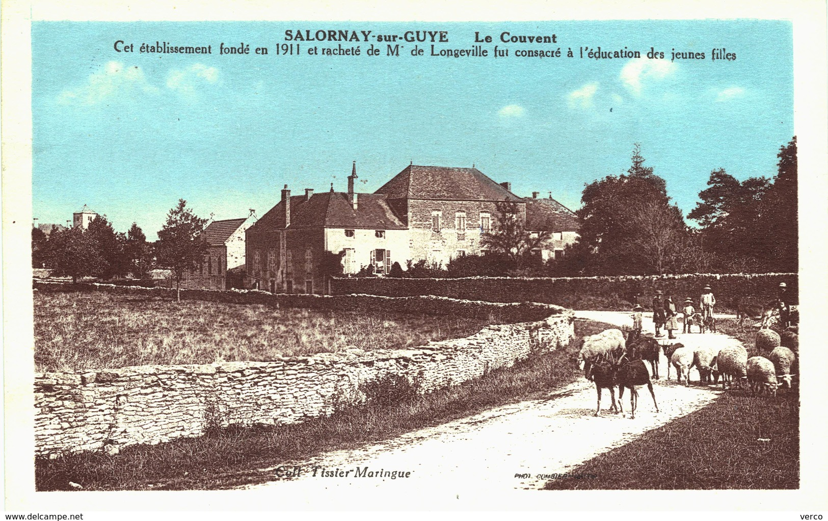 Carte Postale Ancienne De SALORNAY Sur GUYE - France
