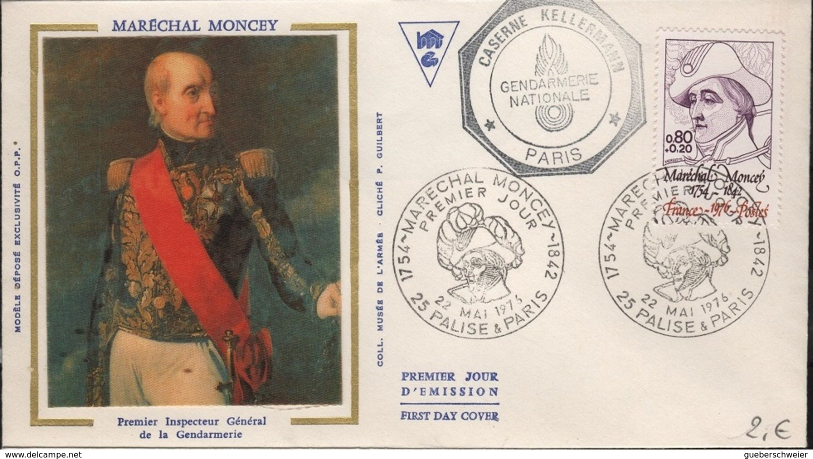 FDC 487 - FRANCE N° 1880 Maréchal Moncey Sur FDC 1976 - FDC