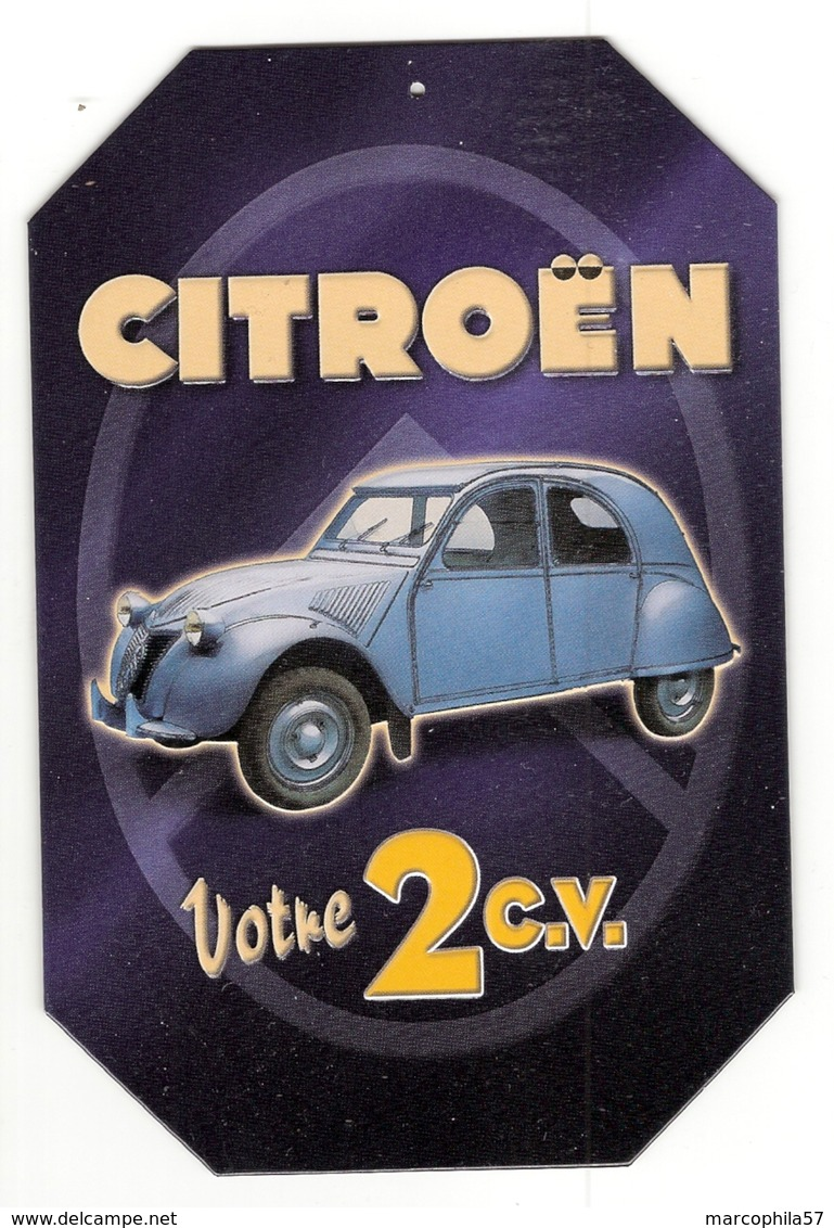 Obj11- Plaque Publicitaire 2CV - Plaques En Tôle (après 1960)