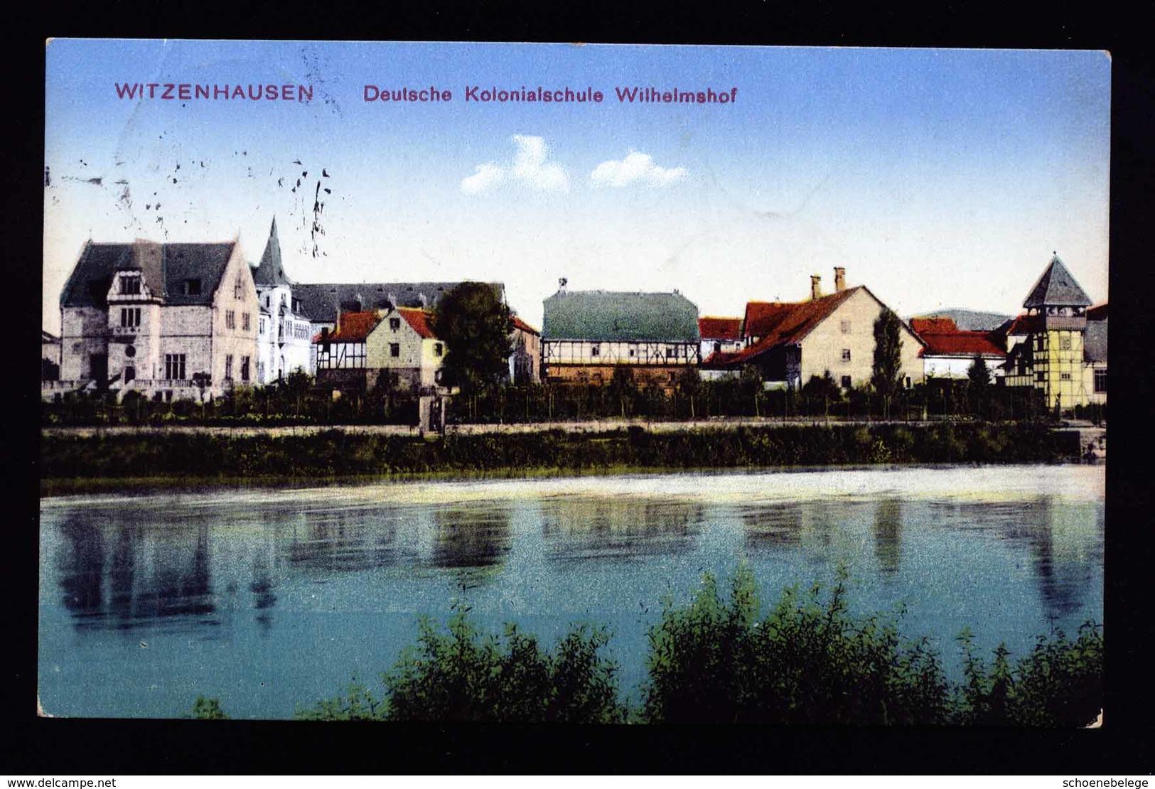 A6110) AK Witzenhausen 1915 Kolonialschule Wilhelmshof Gebraucht - Witzenhausen