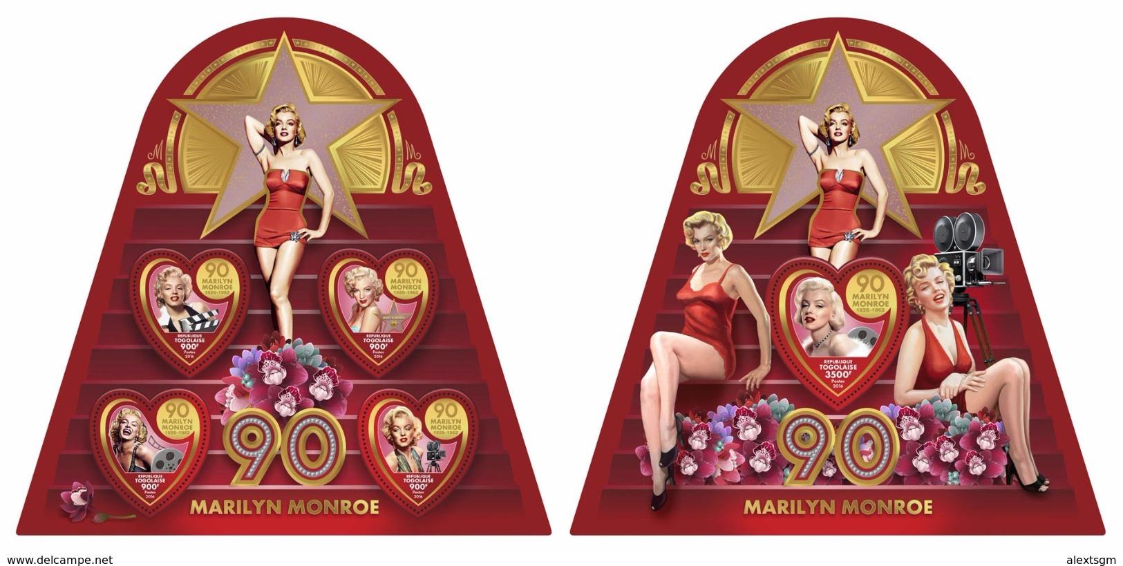 TOGO 2016 - M. Monroe - YT 5314-7 + BF1191; CV=42 € - Film
