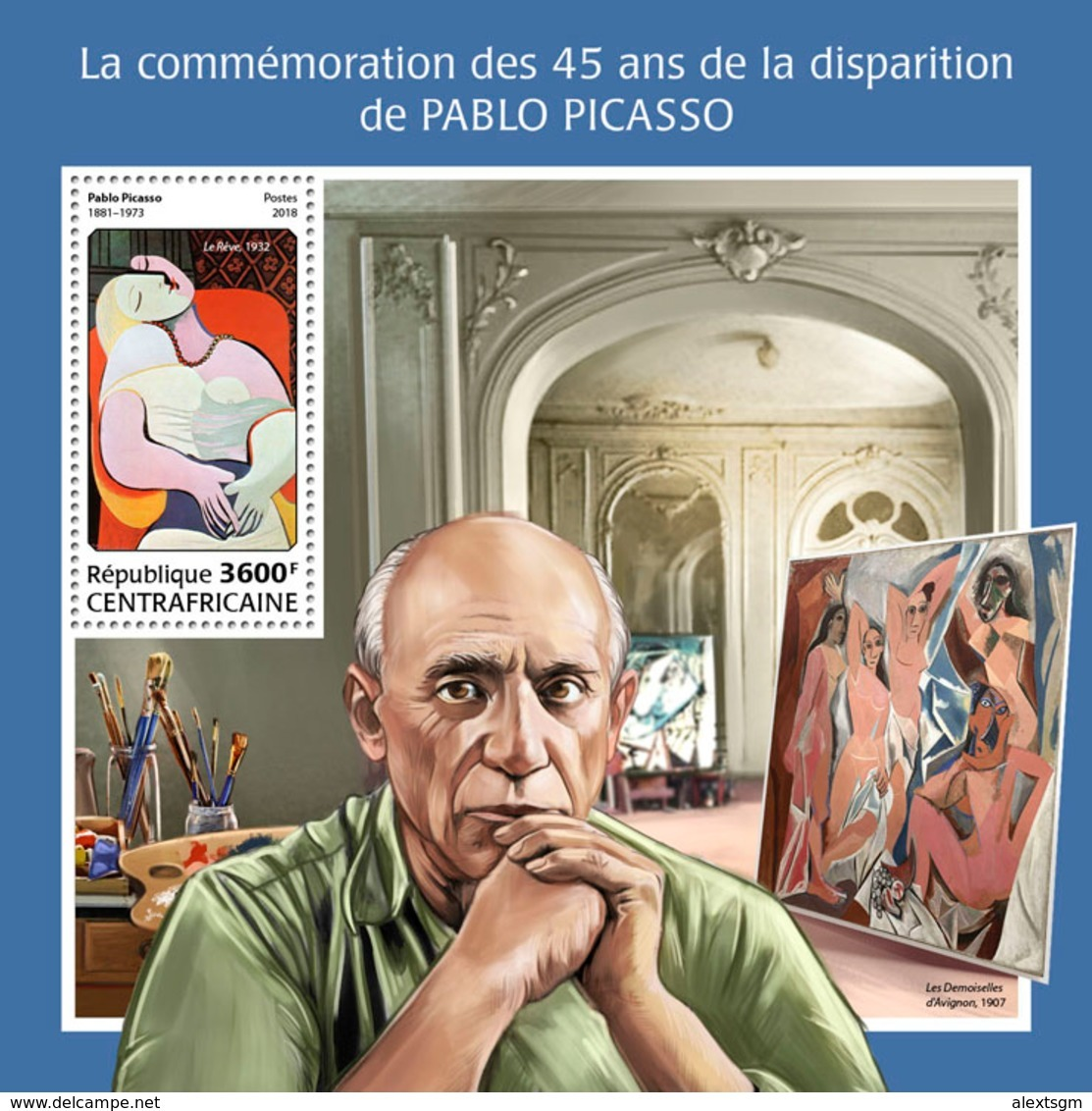 CENTRAL AFRICA 2018 - Pablo Picasso - Mi B1744 - Picasso