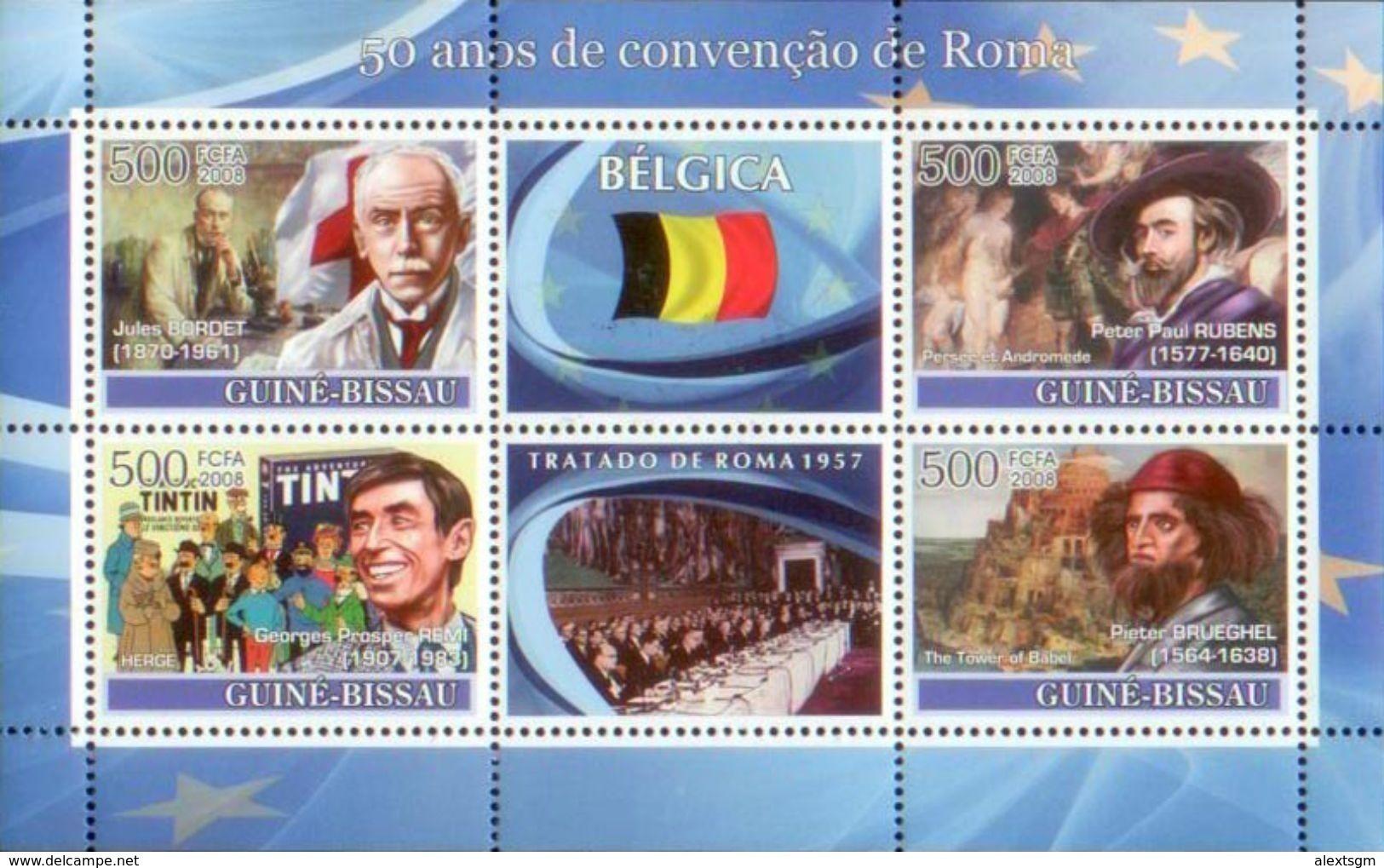 GUINEA BISSAU 2008 - Belgium, Tintin - YT 2480-3 - Stripsverhalen