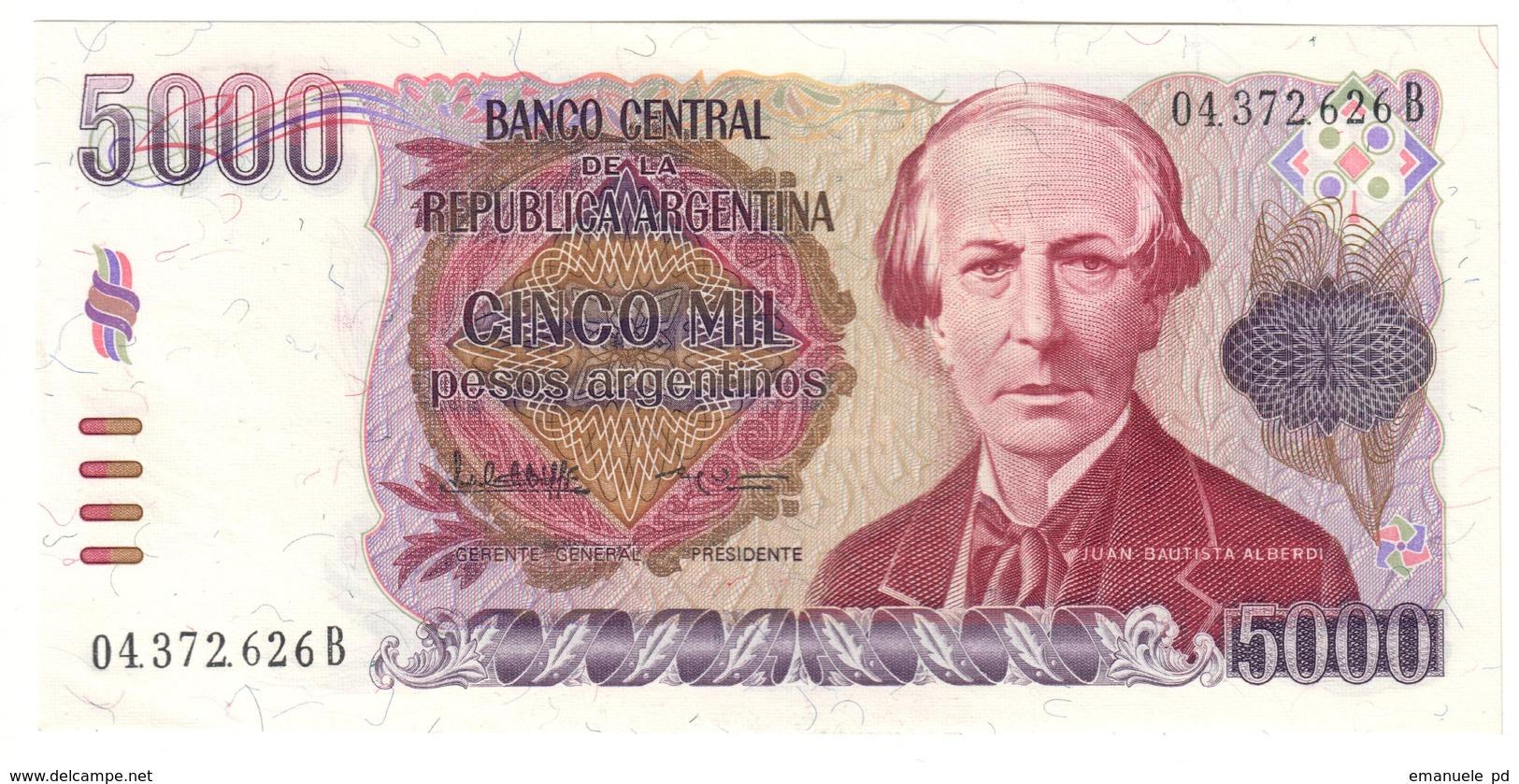 Argentina 5000 Pesos 1984 UNC .C4. - Argentina