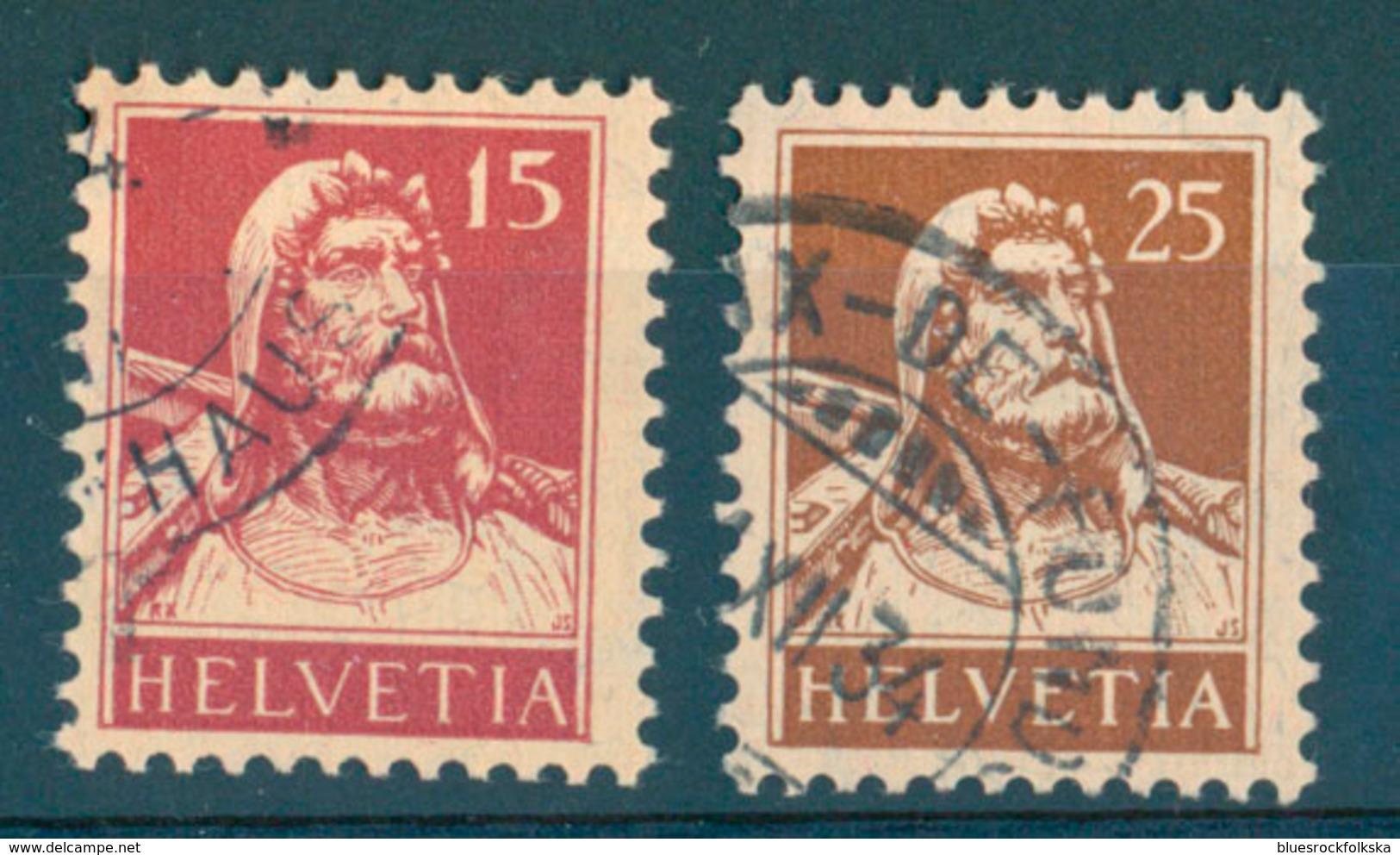 Switzerland - Yvert 201a And 204a (papier Geriffelt) - Gebraucht