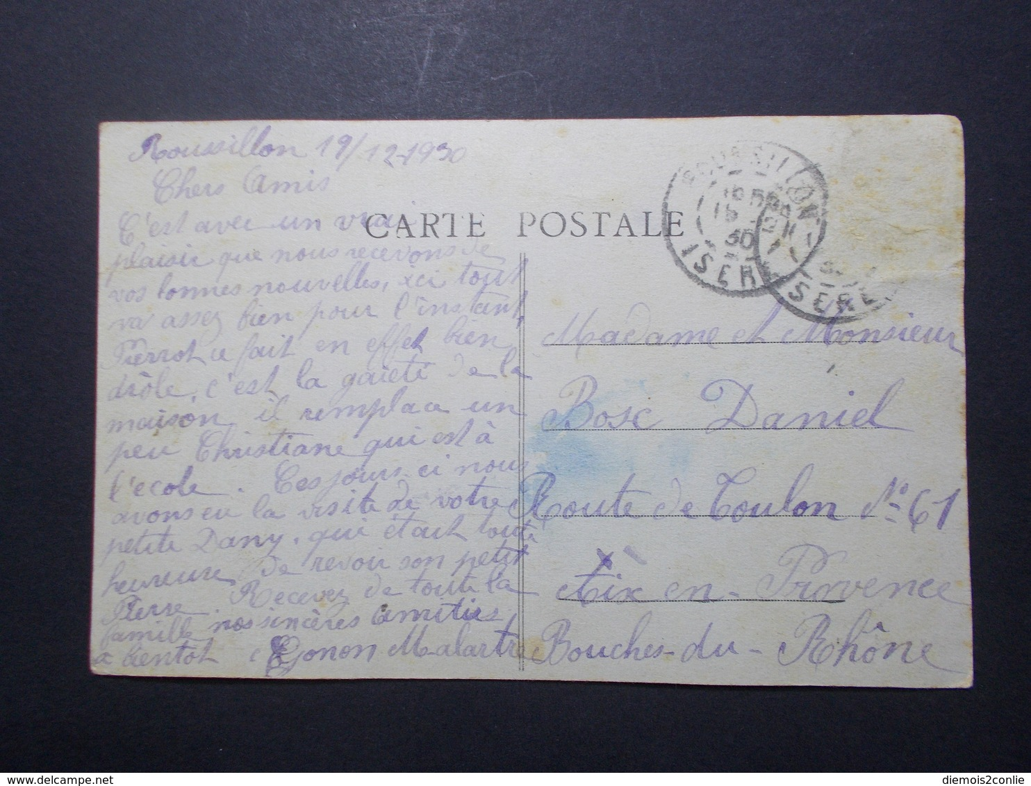 Carte Postale  - ROUSSILLON (38) - Le Château - Les Ecoles, La Poste Et La Gendarmerie - 1930 (2669) - Roussillon