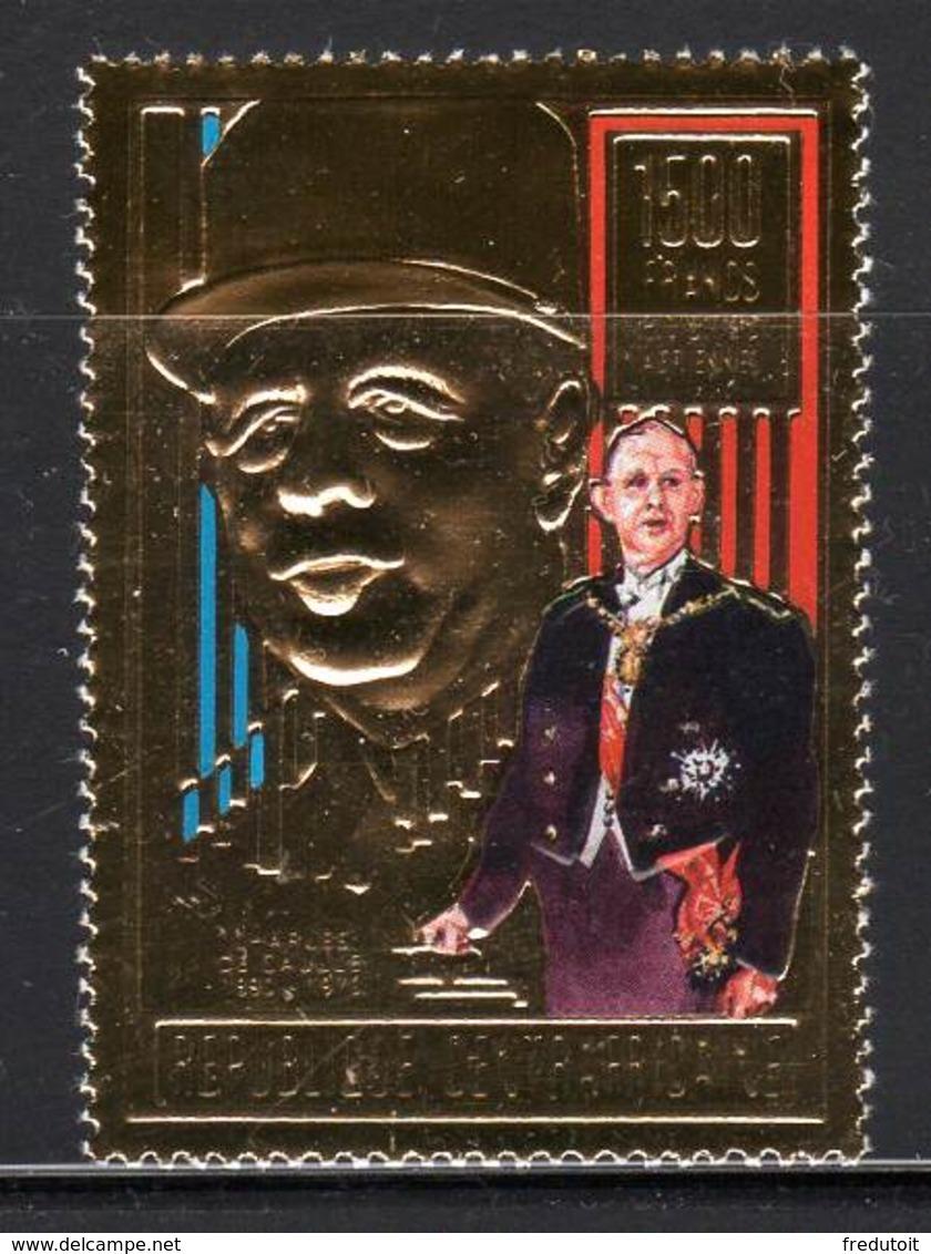 CENTRAFRIQUE - DE GAULLE - N° PA 404 ** (1990) - De Gaulle (General)