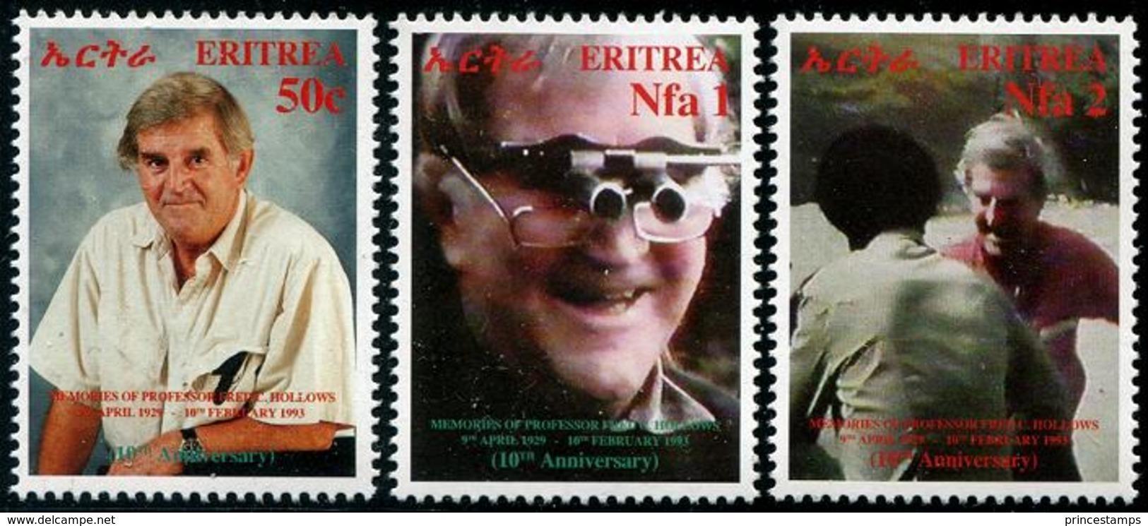 Eritrea (2003) Yv. 458/60  /  Doctor - Health - Medicine - Glasses - Geneeskunde
