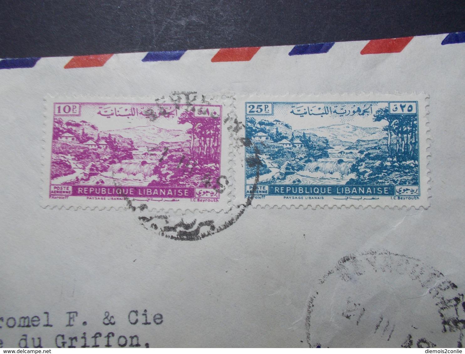 Marcophilie  Cachet Lettre Obliteration - LIBAN Beyrouth à Destination FRANCE - (2340) - Liban