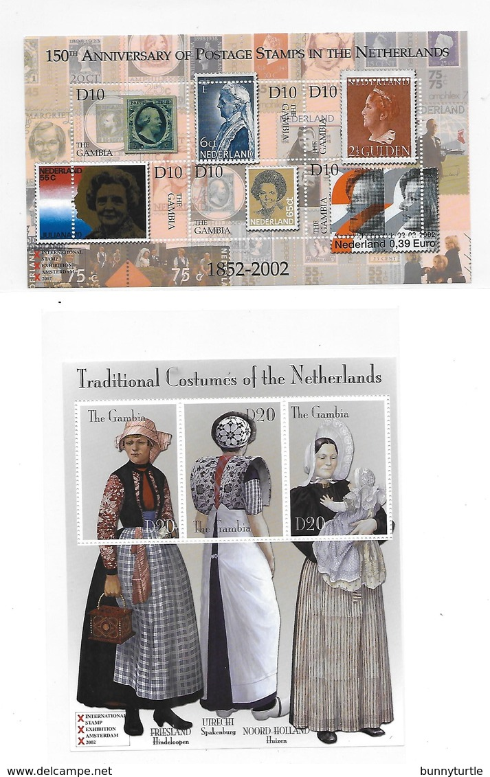 Gambia 2002 Amphilex Int'l Stamp Exhibition Amsterdam 2 S/S MNH - Gambie (1965-...)