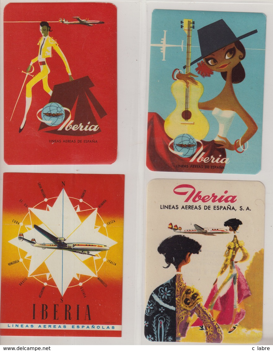 ESPAGNE : IBERIA . - Étiquettes à Bagages