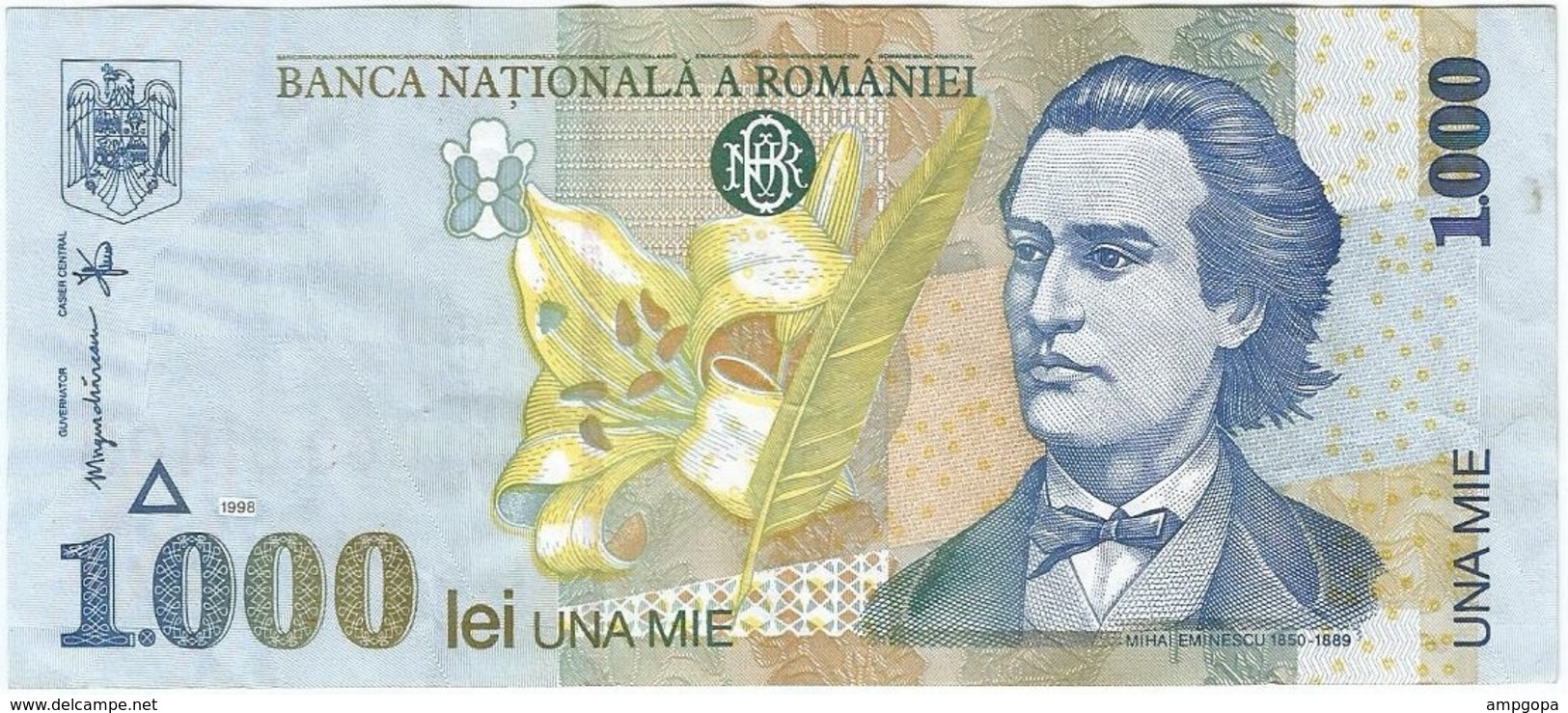 Rumanía - Romania 1,000 Lei 1998 Pk 106 Ref 1484 - Rumania