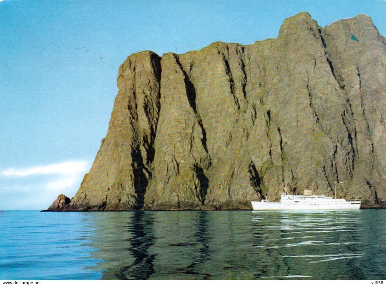 1 AK Norwegen * Ein Kreuzfahrtschiff Am Nordkapp – ältere Karte 1971 Gelaufen * - Norvège