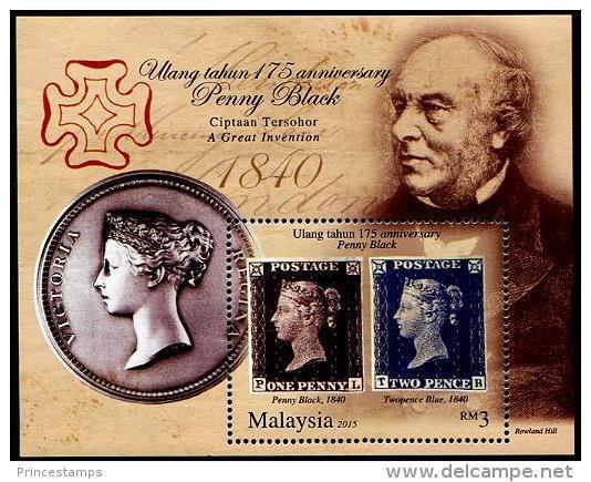 Malaysia (2015) - Block -   /  Stamp On Stamp - Timbre Sur Timbre - Sello Sobre Sello - Postzegels Op Postzegels