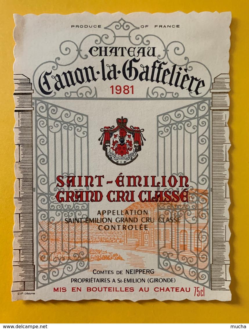 10314 - Château Canon-la-Gaffelière  1981 Saint Emilion - Bordeaux