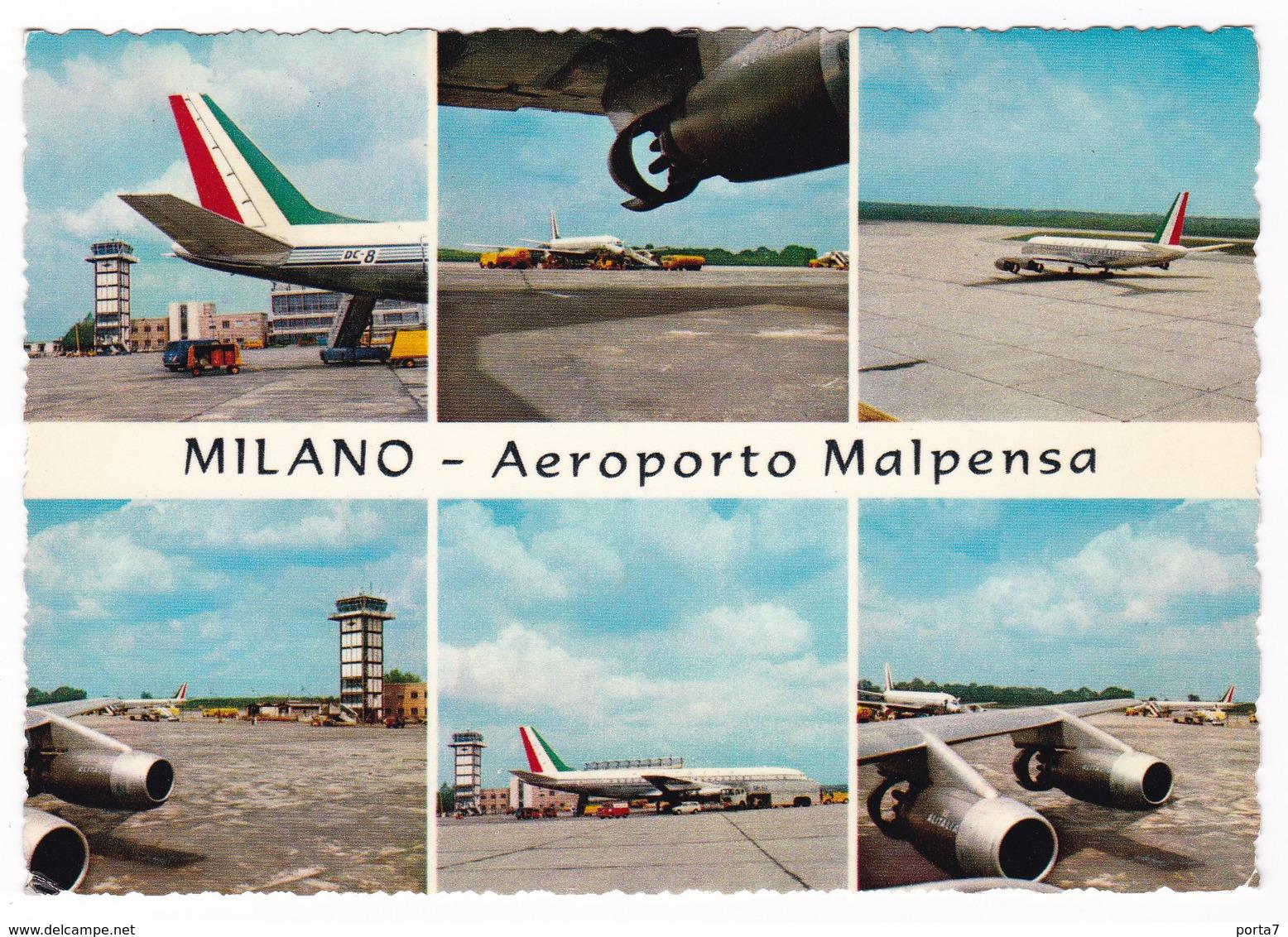 MILANO - AEROPORTO MALPENSA - CARTOLINA VIAGGIATA 1969 - Aerodromi