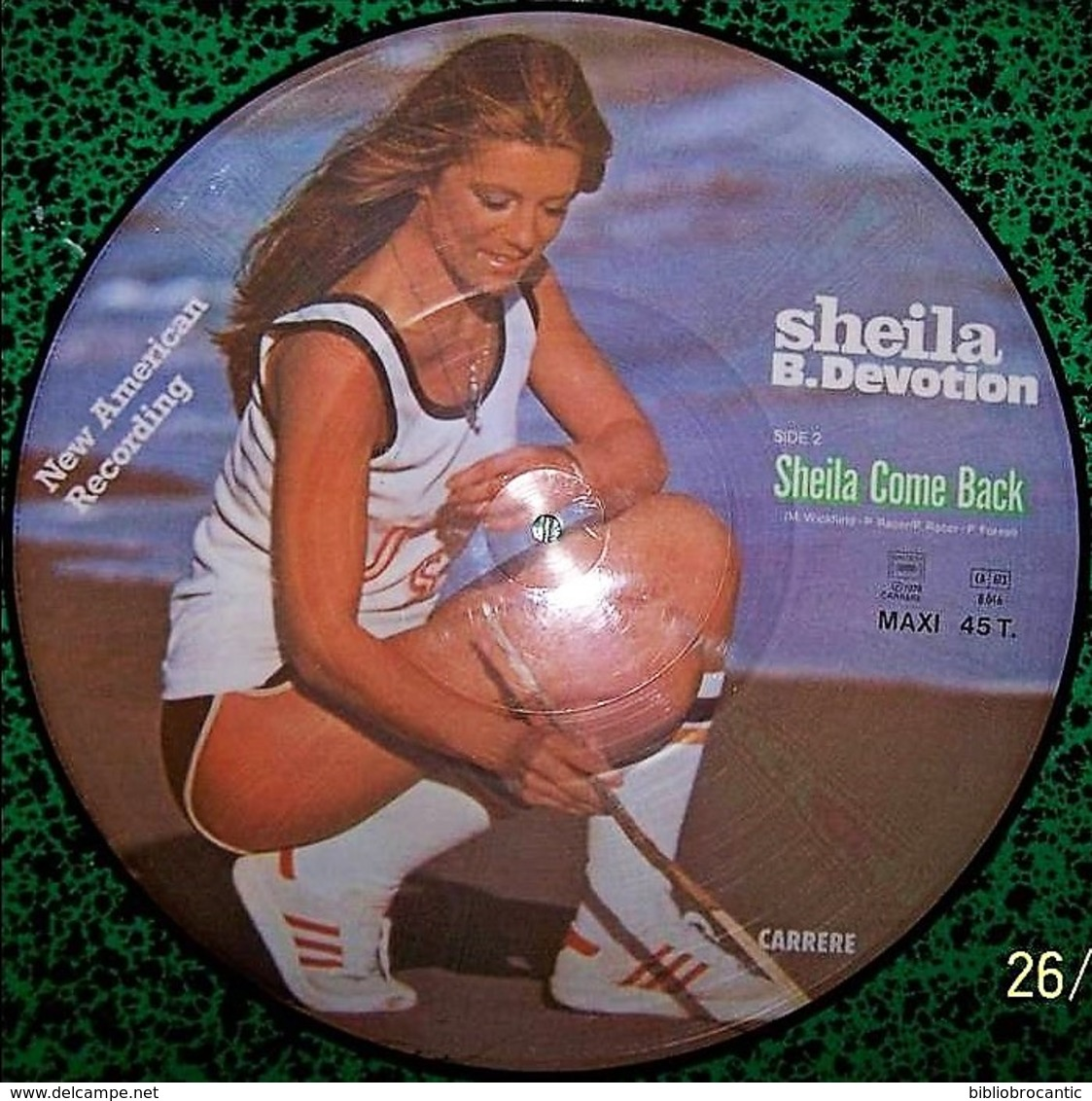 PICTURE DISC - SHEILA / B.DEVOTION - Side 1- SEVEN LONELY DAYS - Side 2 - SHEILA COME BACK - 45 T - Maxi-Single