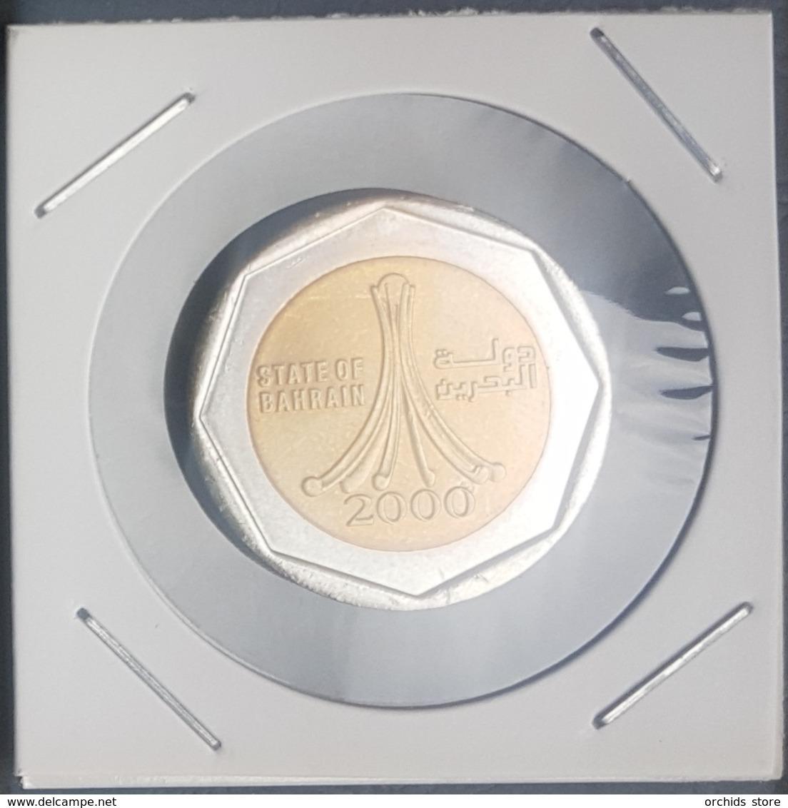 HX - Bahrain 2000 500 Fils Bimettalic Coin KM #22 - State Coat Of Arms - A-UNC / UNC - Bahrein