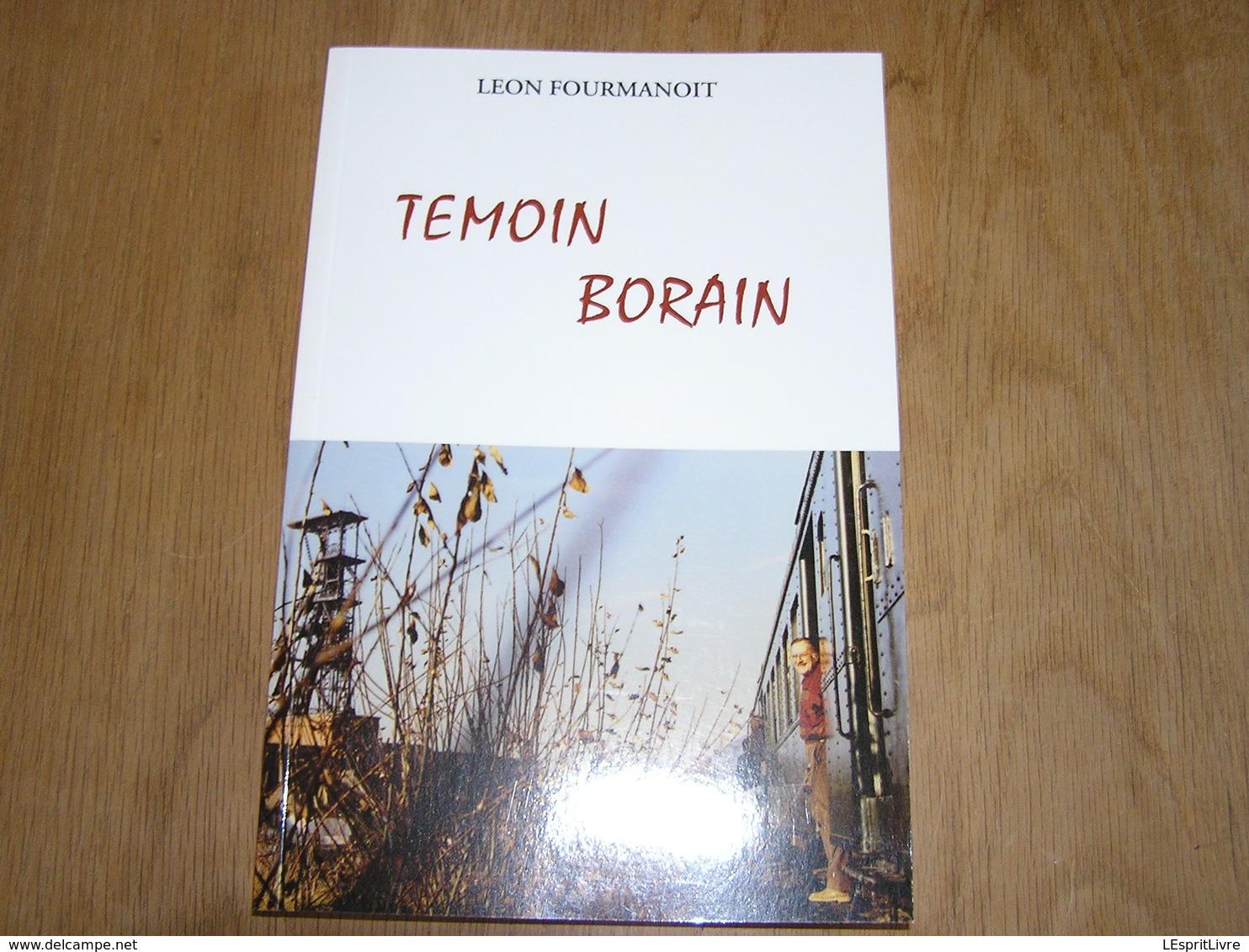TEMOIN BORAIN Régionalisme Borinage Récits Mineur Mine Guerre 40 45 Bombardements Saint Ghislain Ligne 98 Chemin De Fer - Bélgica
