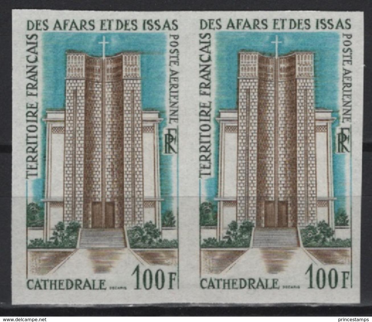 Afars Et Issas (1968)  Yv. Av. 61- Pair /  Cathedral - Architecture - Maps - NON DENTELE - IMPERFORATED - Kerken En Kathedralen