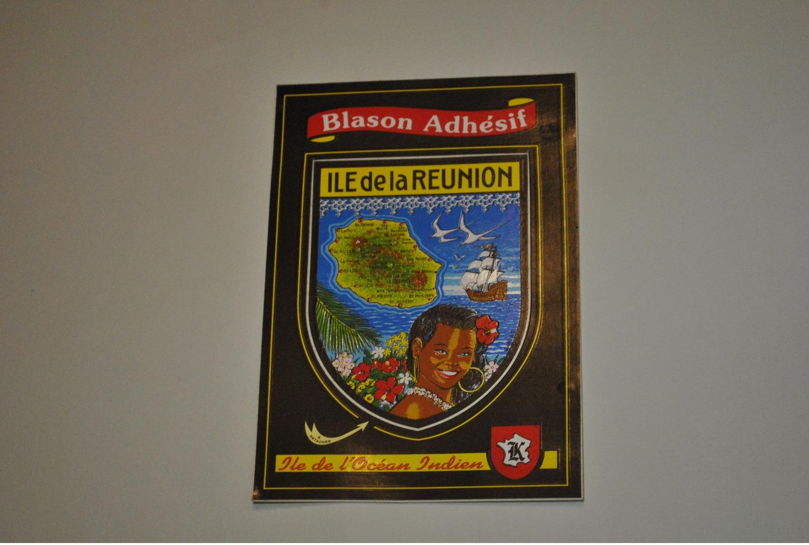 Blason Adhésif Ile De La Réunion   Ile De L'Océan Indien - Autres