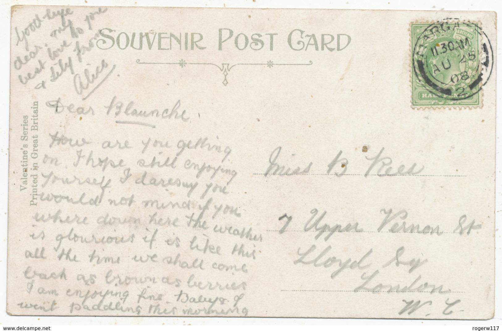 The Sands, Margate, 1908 Postcard - Margate