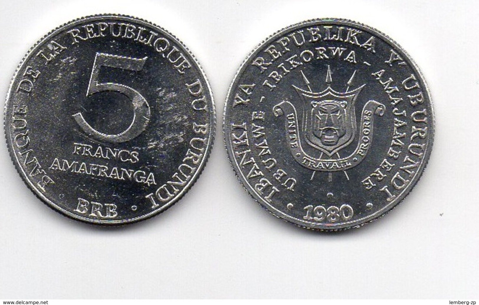 Burundi - 5 Francs 1980 VF++ Lemberg-Zp - Burundi