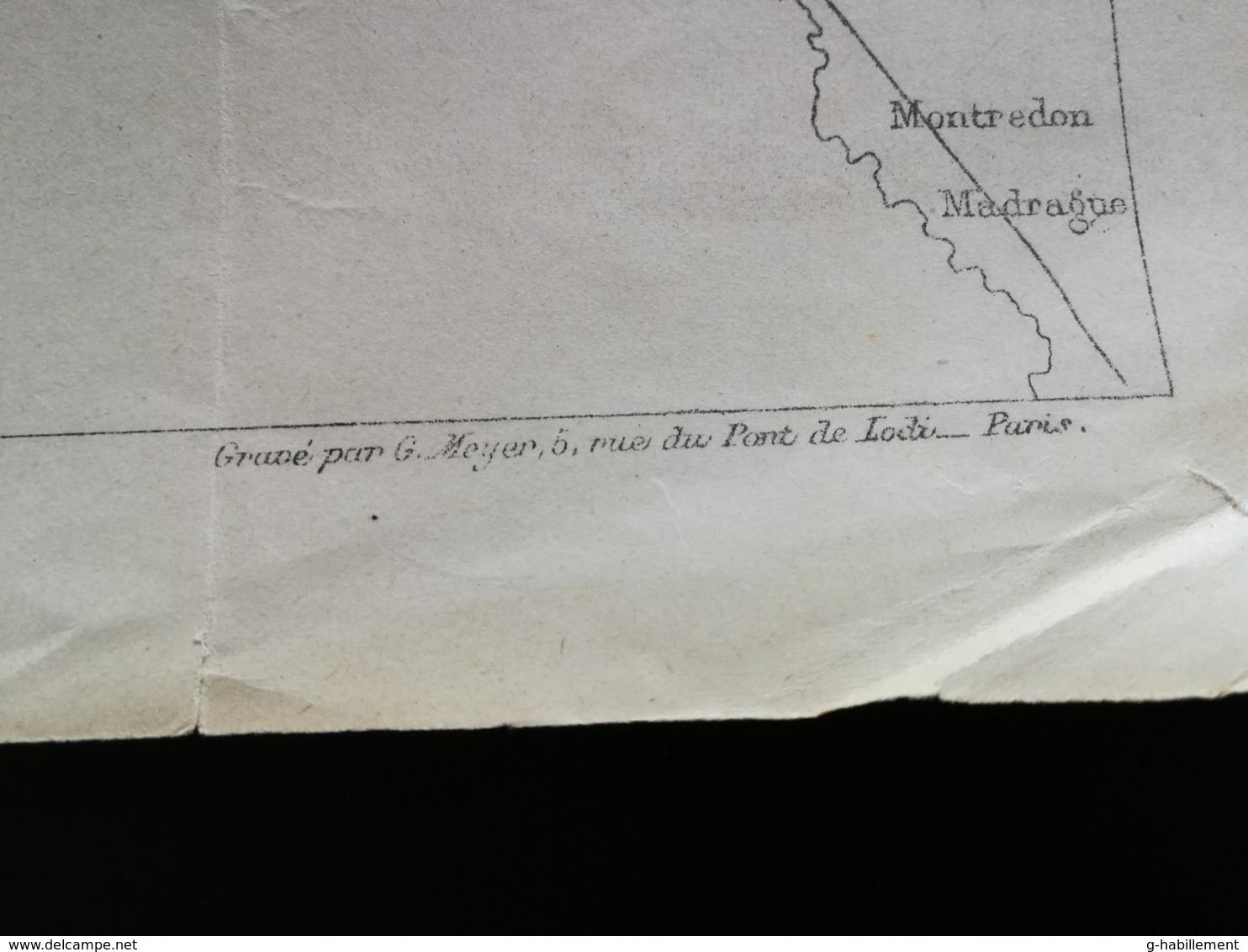 ANNALES PONTS Et CHAUSSEES (Dep13)- Plan De Tramways éléctriques De Marseille - Gravé Par G.Meyer - 1902 (CLC24) - Máquinas