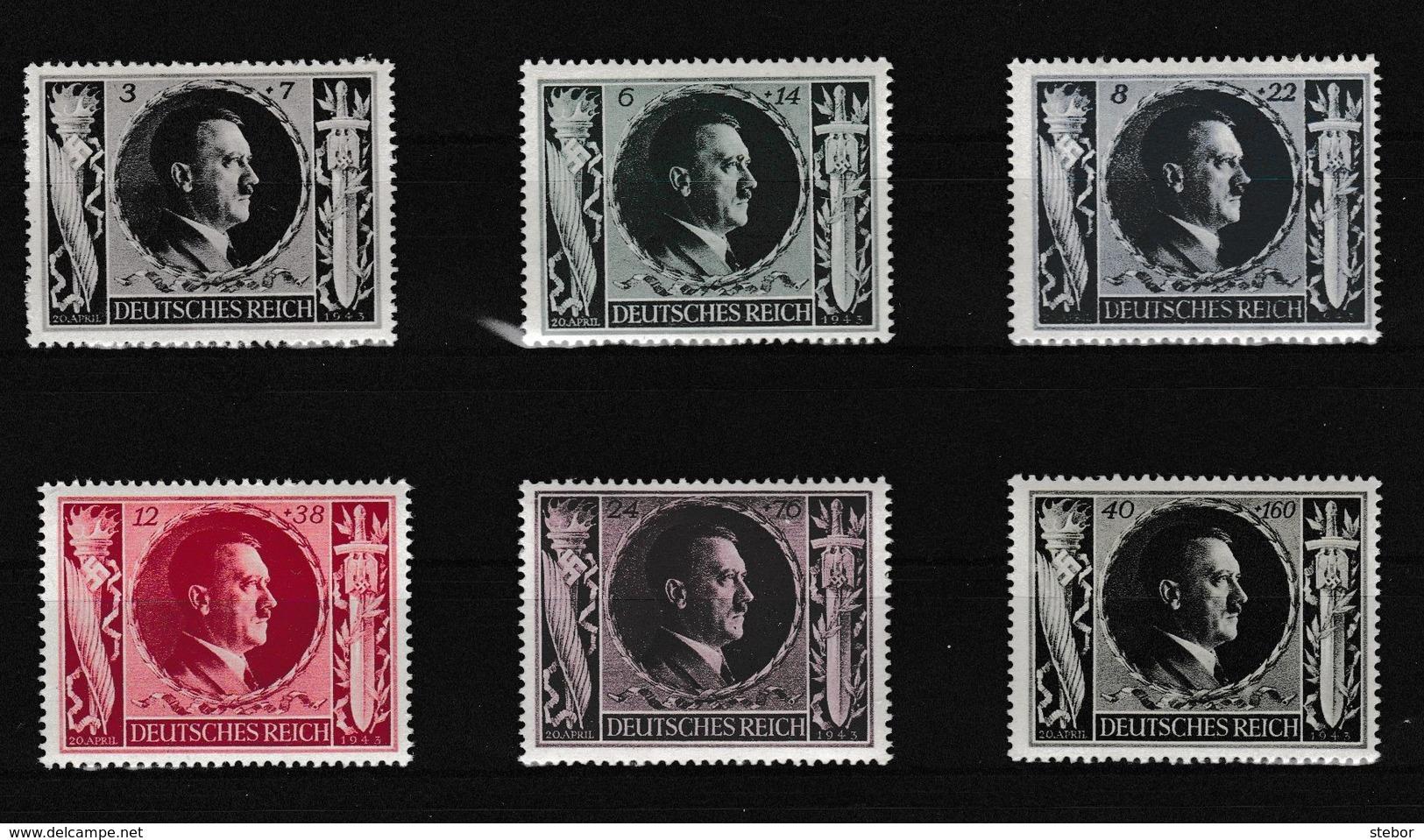 Duitse Rijk Kleine Verzameling 1943 Nr 763/68 *, Zeer Mooi Lot K973 - Timbres