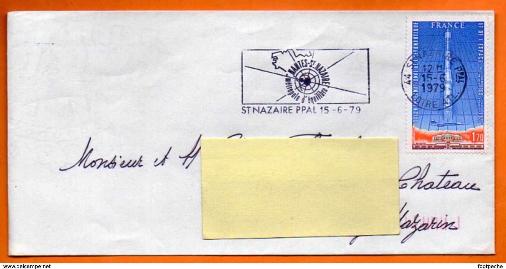 MAURY  N° Aer 52  AERONAUTIQUE  44 SAINT NAZAIRE 1979  Lettre Entière N° OO 634 - Marcophilie (Lettres)
