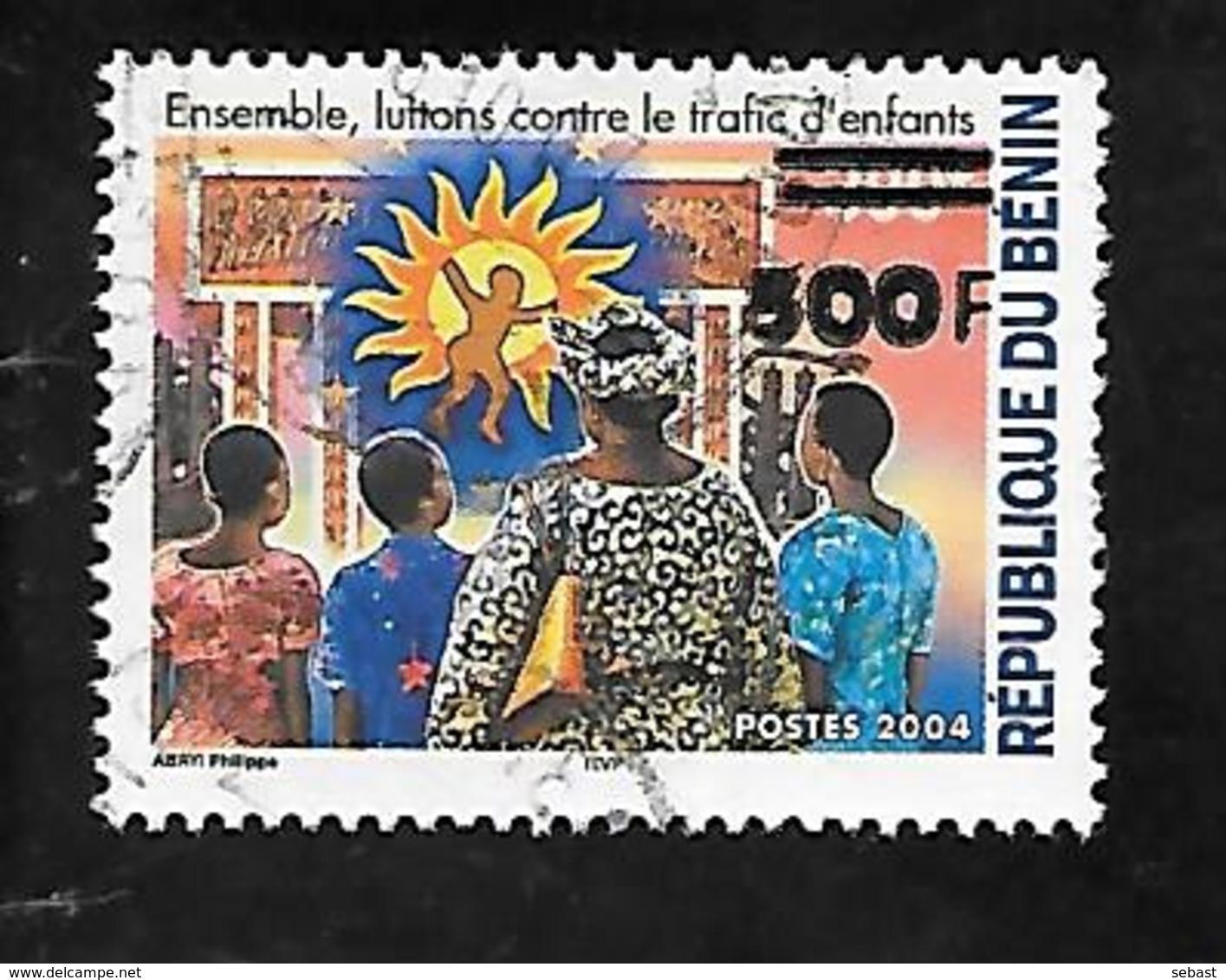 TIMBRE DU BENIN SURCHARGE OBLITERE EN 2007 N° MICHEL 1413 - Bénin – Dahomey (1960-...)