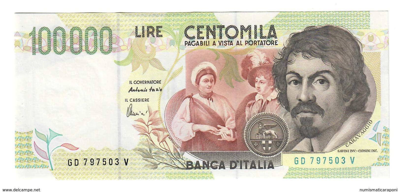 100000 Lire CARAVAGGIO 2° TIPO SERIE D 1997 Q.fds LOTTO 2450 - 100.000 Lire