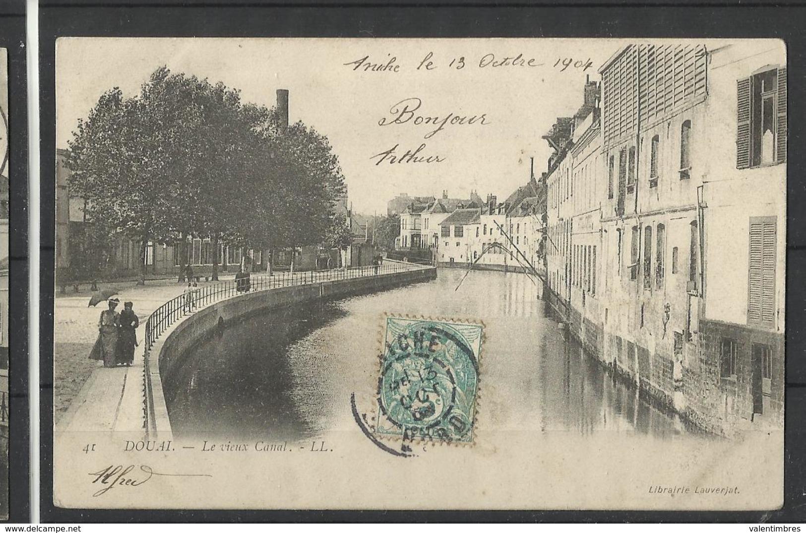 Douai (59 ) Ref 2 Recto Verso  Le Vieux Canal - Douai