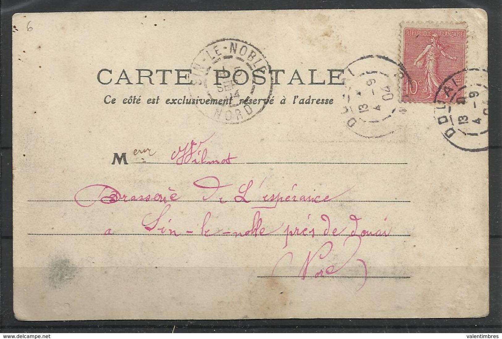 Douai (59 ) Ref 6 Recto Verso  Prison Cellulaire - Douai